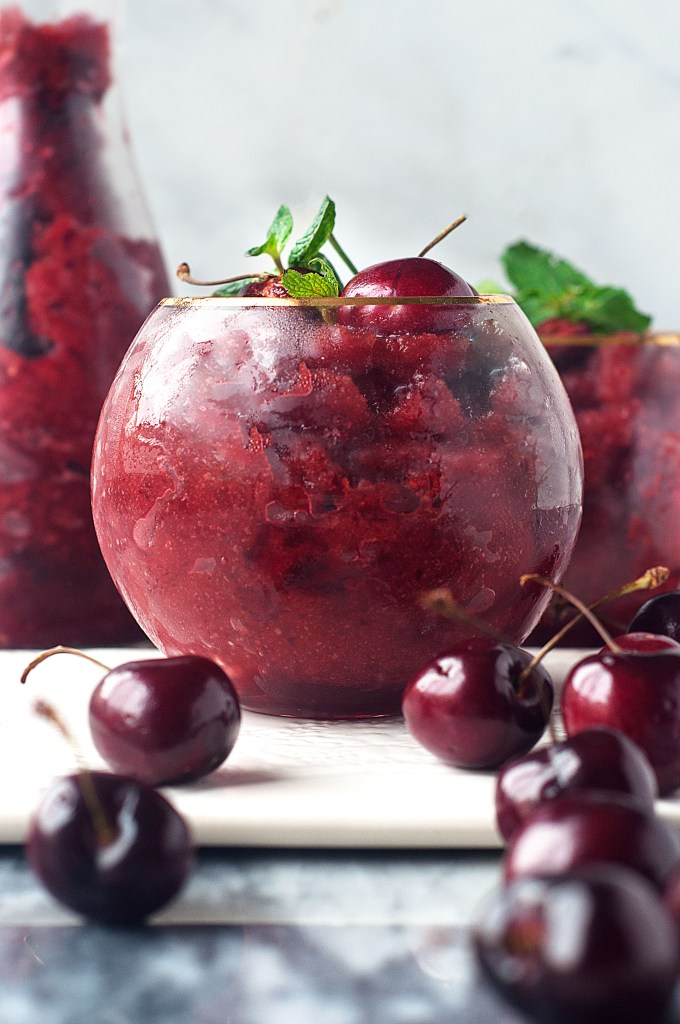Cherry Ginger Beer Slushies cocktail recipe