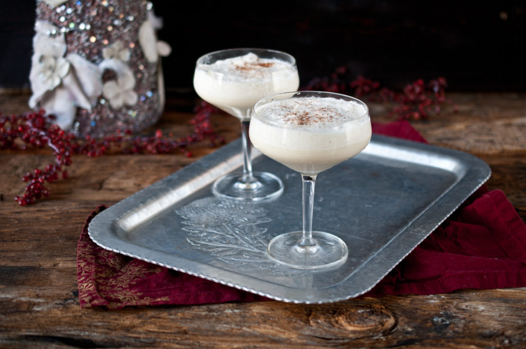 Eggnog with bourbon and beer cocktail recipe