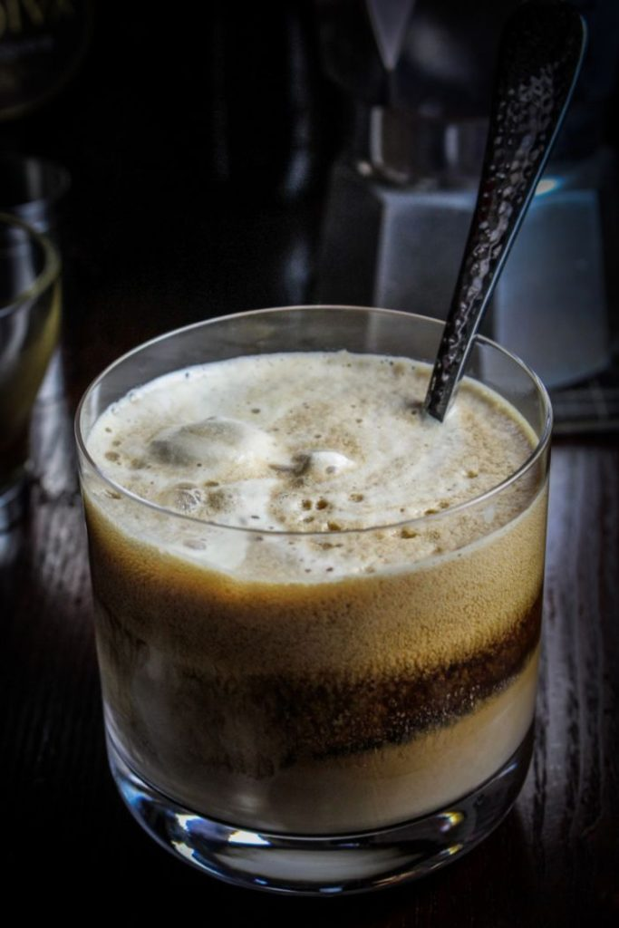 chocolate stout affogato beer cocktail