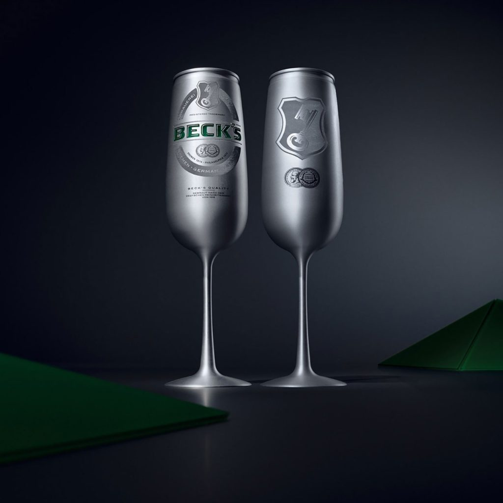 Le Beck's beer can design