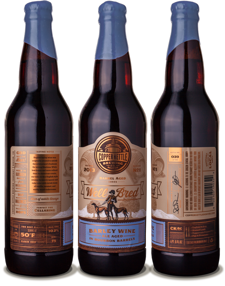 Copper Kettle Brewing Company Well Bred beer bottle design