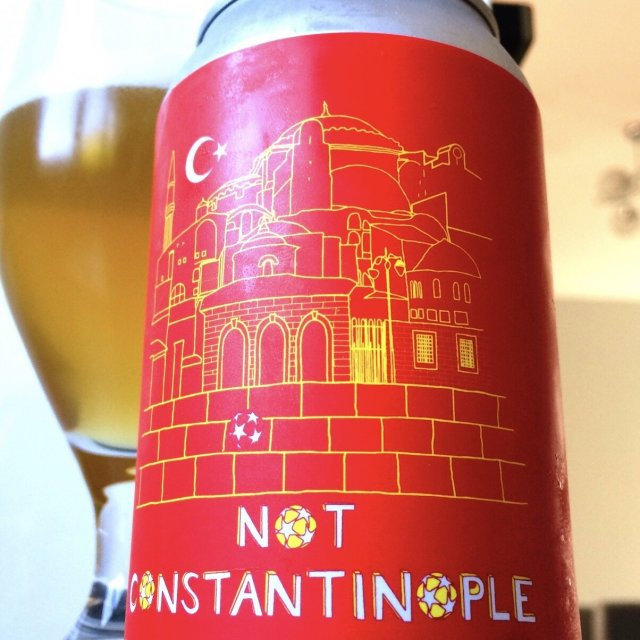 Not Constantinople Black Isle Brewery beer can design