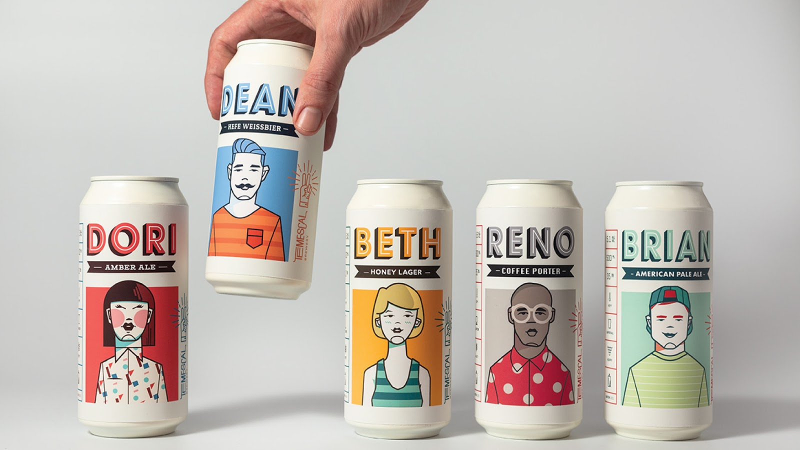 Temescal Brewing beer can design