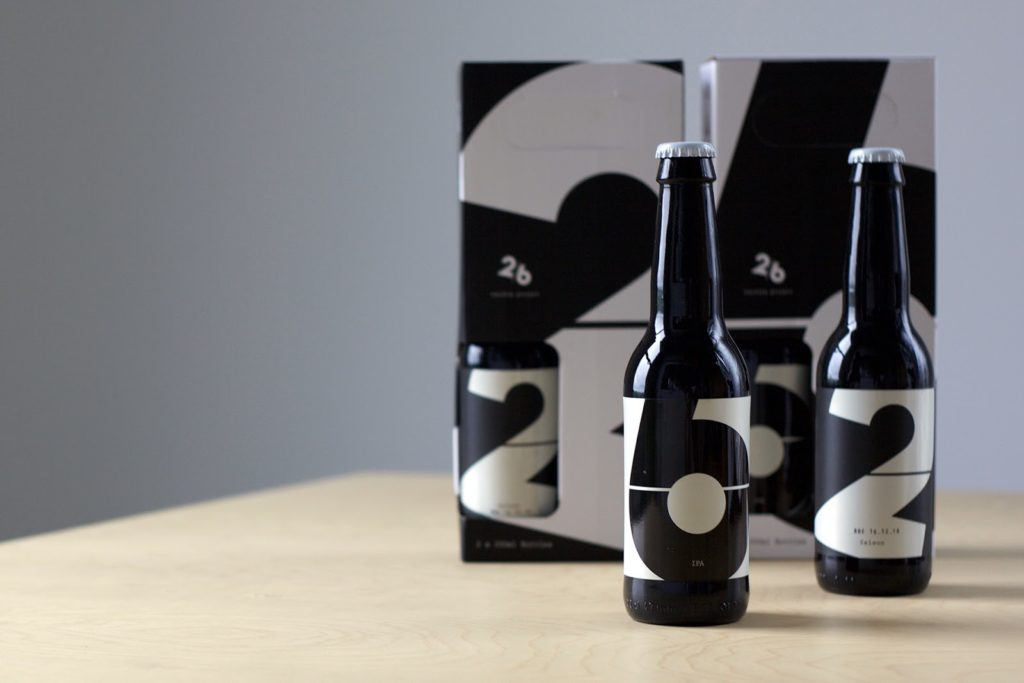 Two/six project beer bottle design